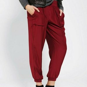 Silence + Noise red Harem pants